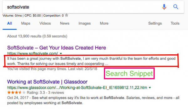Search Snippet Size Reduced Google